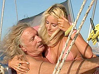 Blonde sweetie deep throats dude rod and gets her cunt pounded on a boat
