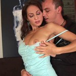Hot babe with lovely jugs orb ravages her boyfriends beef stick and gets ravaged from behind